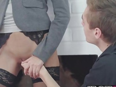 Paula Shy jumped on top and rode Daniel's big erect cock