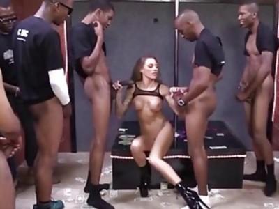 Juelz Ventura Gets A Bunch Of Cocks To Please
