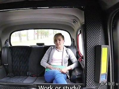 Fake cab driver fucks blondes tight cunt