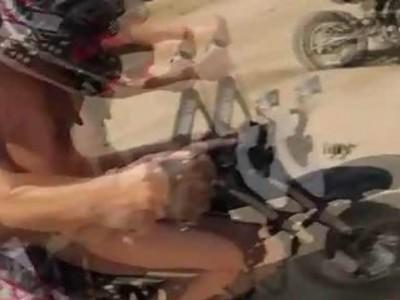 Topless Motocross Racers!