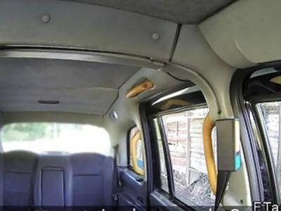 Hot tourist fucks in London fake taxi
