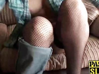 Adorable hot newbie Eva Johnson rubs her soaking clit