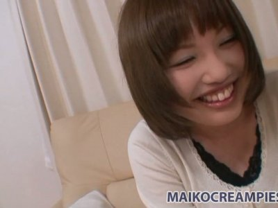 Shy chick Reiko Kawahara gets undressed for a tough fuck
