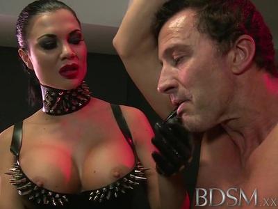 BDSM XXX Slave boy gets anal attention from Mistress