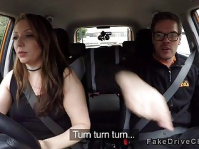 Busty examiner and student bangs instructor