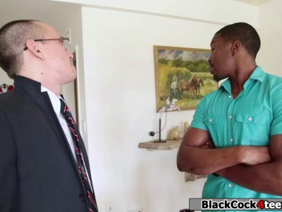 Hungarian babe rammed hard by black guy