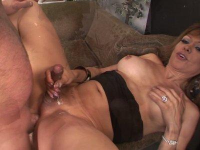 Mature shemale slut Johanna B gets banged brutally deep in her asshole