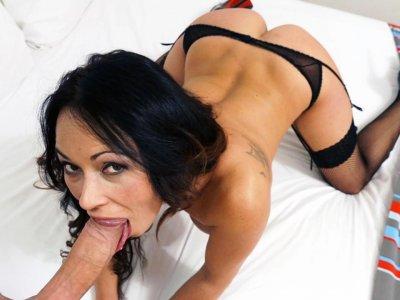Gagging and Tittyfucking Spanish MILF Sara