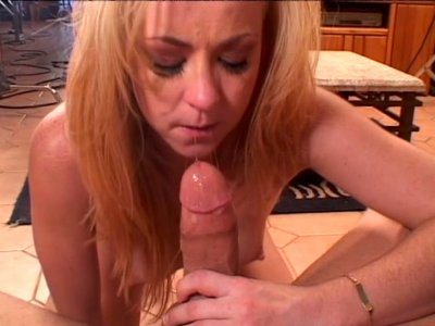 Filthy blonde cunt Trinity Post sucks and fucks doggystyle