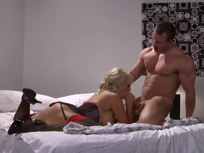 Blonde milf with big boobs and bitch-style features Stormy Daniels fucks hot man