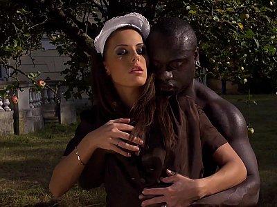 Outdoor interracial anal hardcore